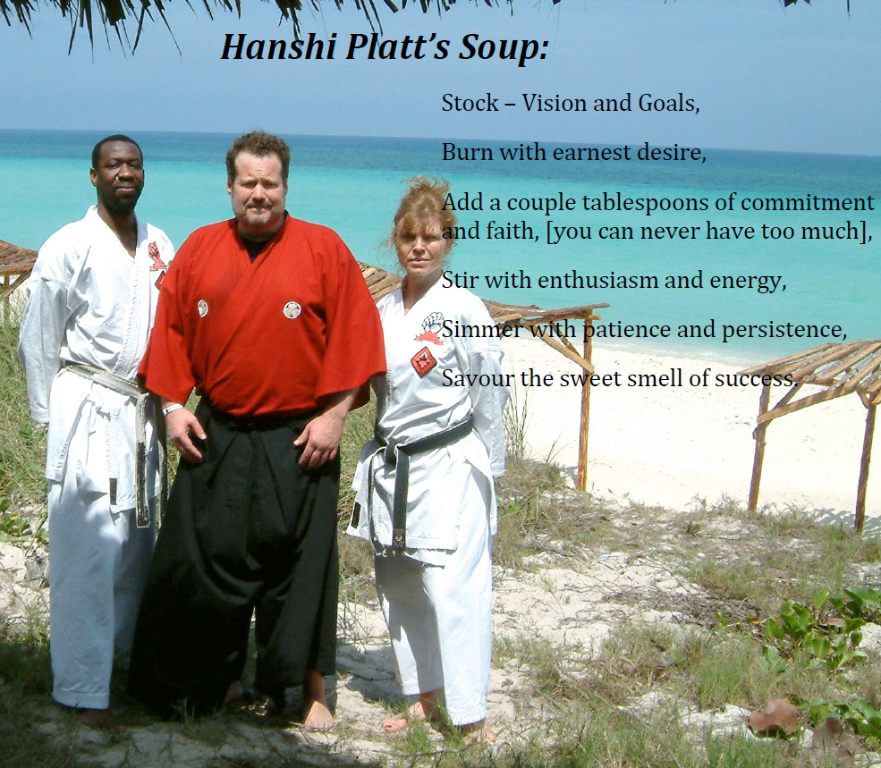Hanshi-Platt's-Soup - Classical Martial Arts Centre - Toronto Central Region - Martial Arts classes offered in Toronto - Adults and Children - Karate-Do, Jiu Jitsu, Self-Defense, Tai Chi Chuan, Chi Gung, Ba Gwa, Iaido, Jodo, Kobudo, Ancient Weaponry, Kali.