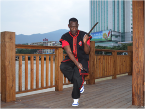 Sensei Williams training in kung fu in China
