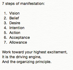 7 Steps of Manifestation
